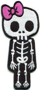 Amazon.com: Skull Skeleton Goth Punk Emo Horror Appliques Hat Cap Polo Backpack…