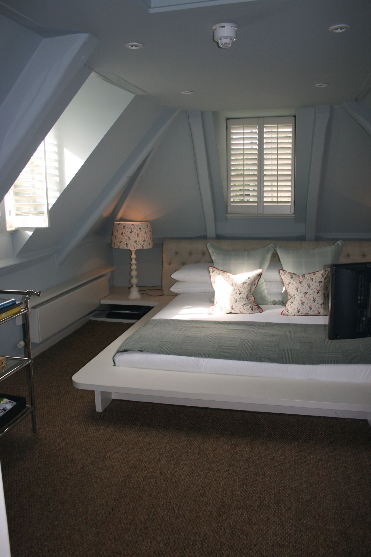 Loft bedroom and bathroom ideas  Babington House  Attic room inspiration  Pinterest  House