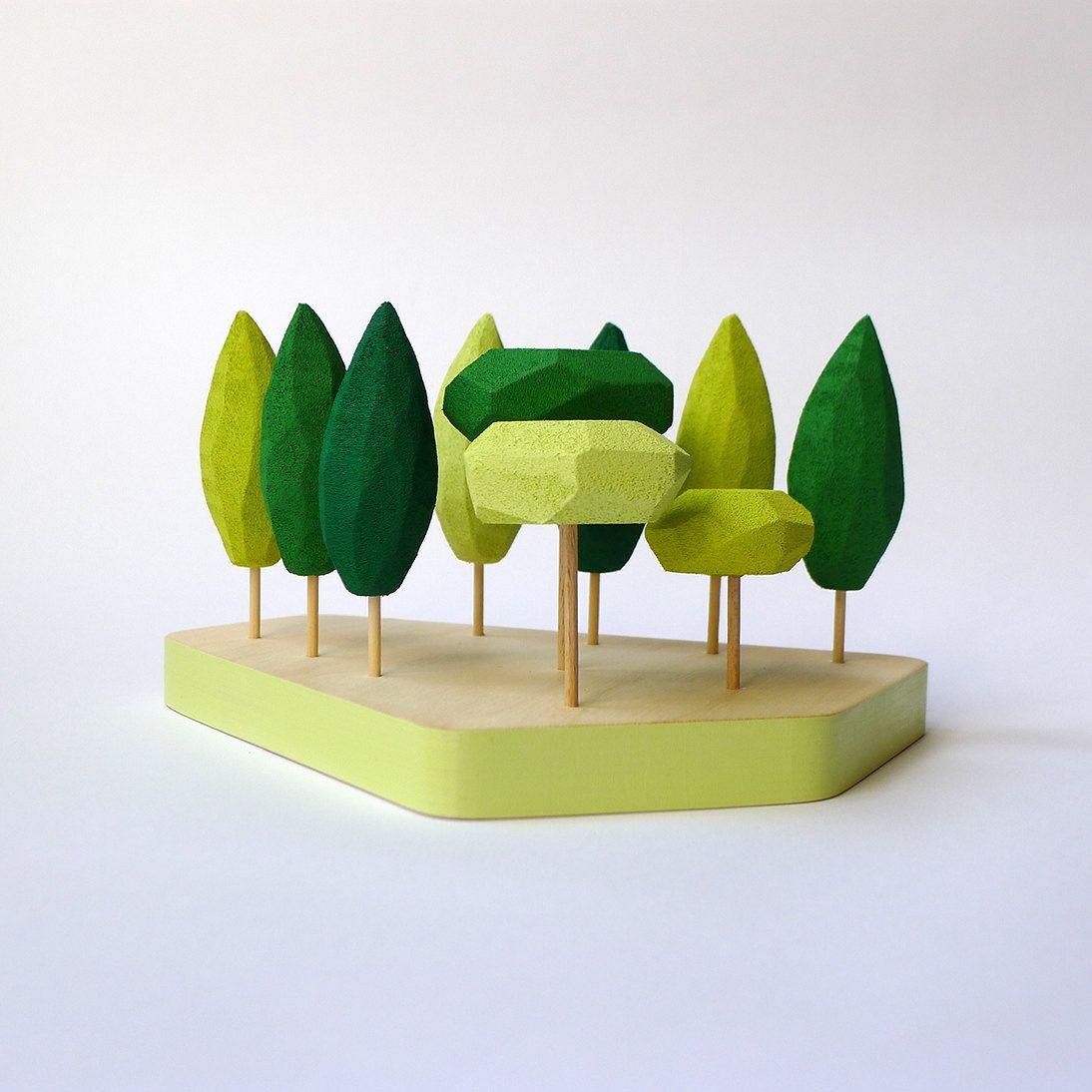 Miniatur Tischplatte Wald in Grüntönen. Kleiner Garten. Tischplatte ...