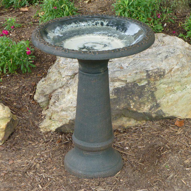 Tierra Garden 25 In. Sand Fiber Clay Bird Bath   4/1/8177