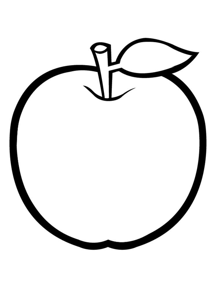 Apple Coloring Pages For Preschoolers Penanda Buku Kegiatan Balita