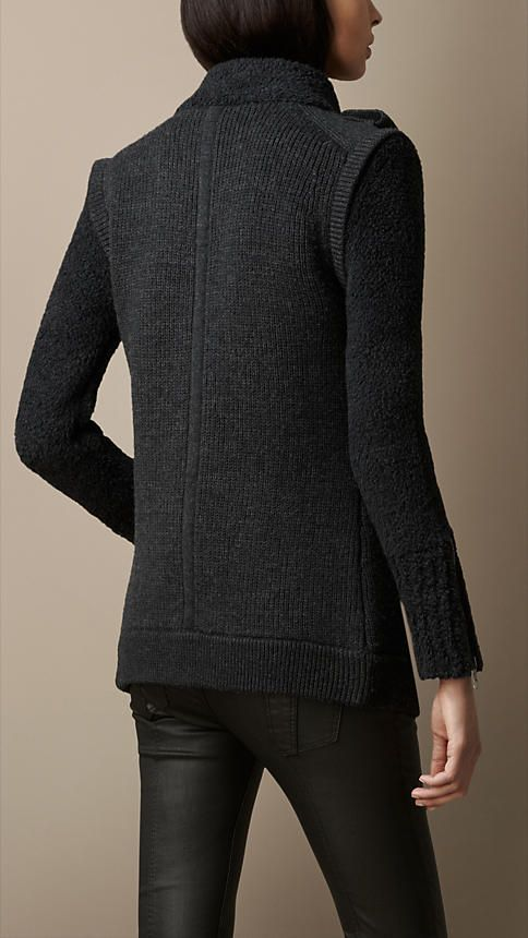 Cardigan Jacket with Removable Sleeves | Burberry