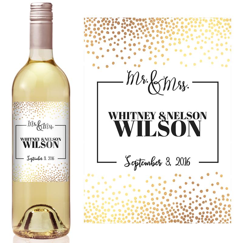 Goldconfettiweddingwinelabel 1 Xlarge Png Stamp 636525973292092830 Wedding Gift Wine Labels Wine Bottle Labels Wedding Wedding Wine Bottles