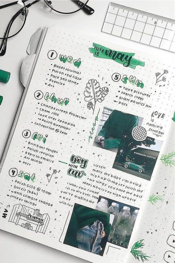 25+ Best Scrapbook Bullet Journal Spreads For 2020