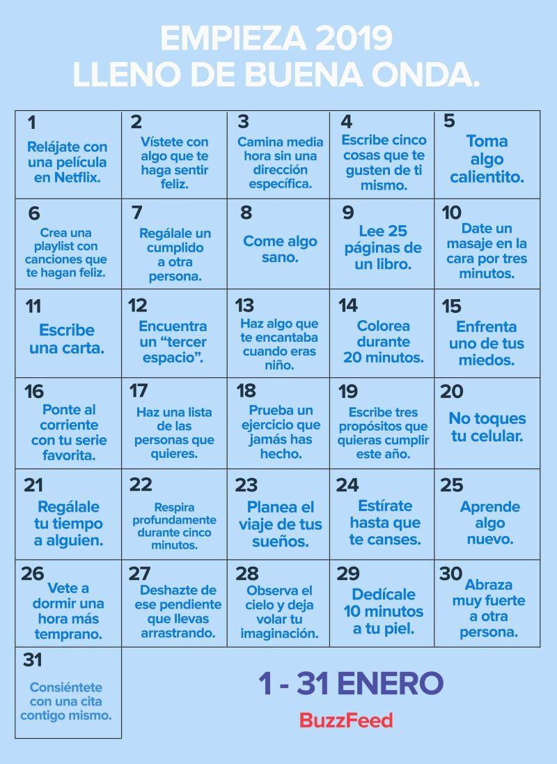 31 Cosas que puedes hacer en enero para arrancar el 2019 con mucha buena onda