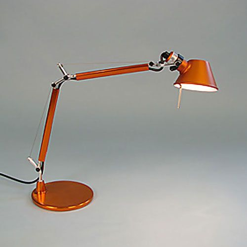 Artemide Tolomeo Micro Table Lamp Orange Open Box Contemporary Desk Lamps Lamp Table Lamp