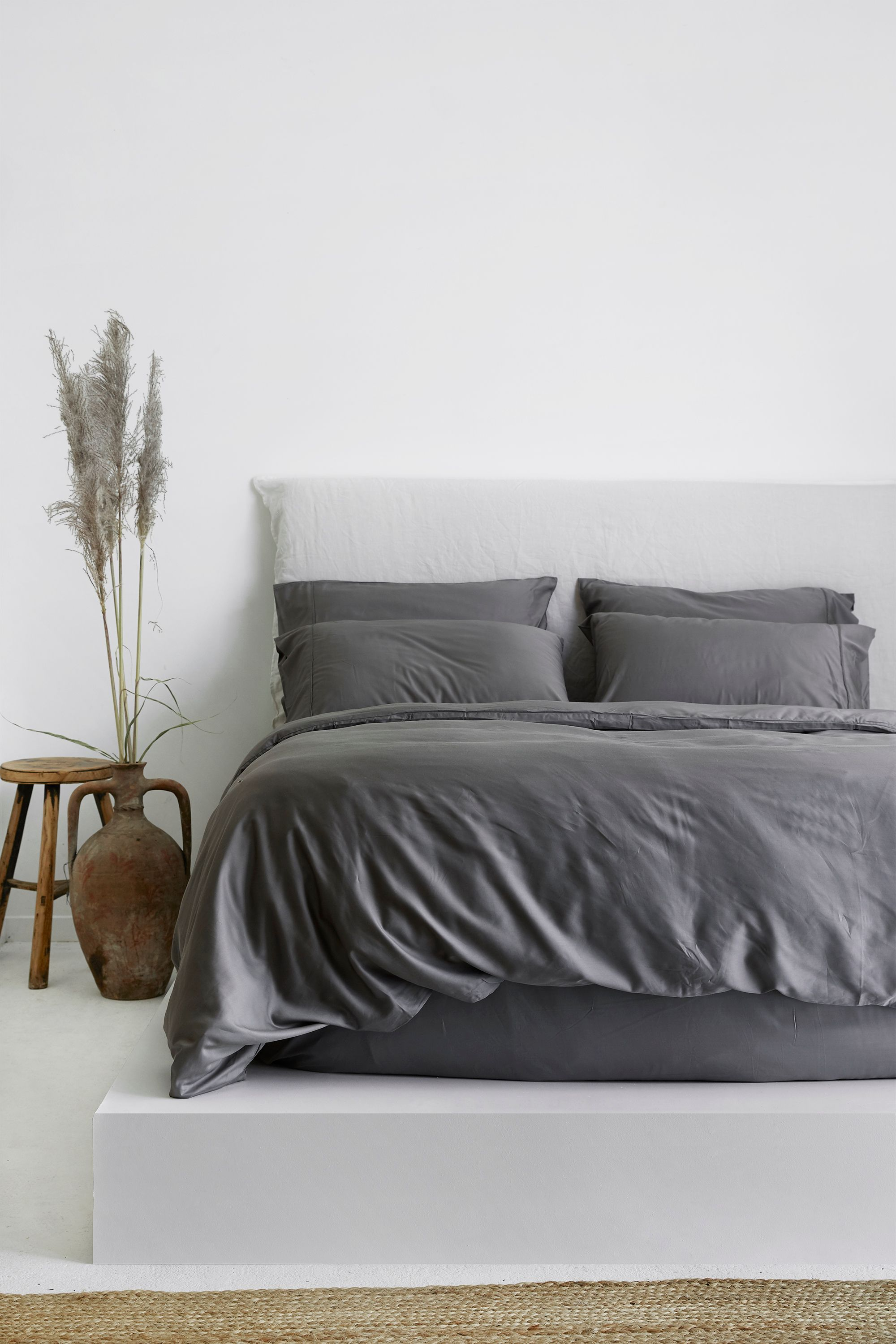 Effortless Styling Done Right With Our Warm Grey Quilt Cover All In Our 100 Pure French Fla Bed Linens Luxury Luxury Bed Linen Duvet Covers Neutral Bed Linen