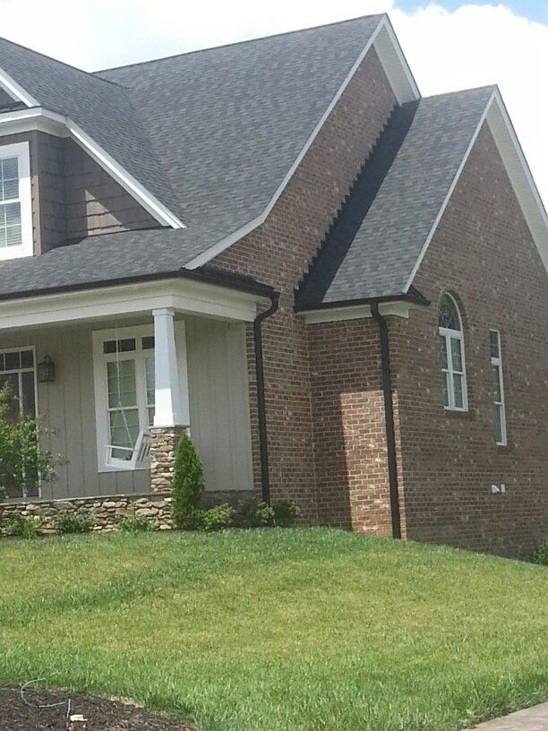 Black Gutters House Trim Exterior House Gutters House Exterior