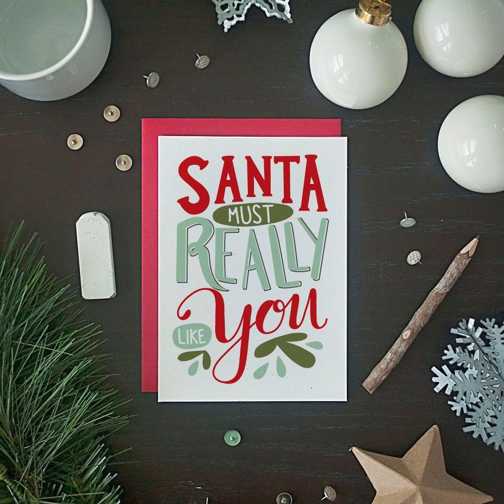 Funny Christmas Card Set - Funny Holiday Card Set - Santa Must ...