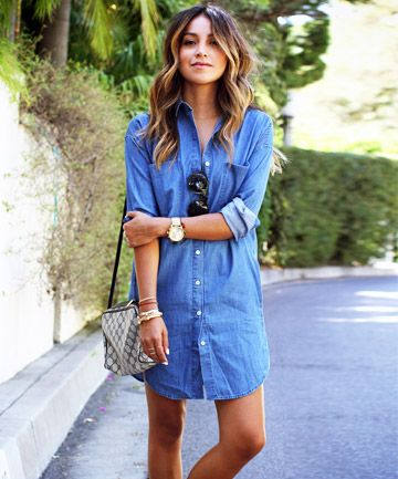 7f0f6d30823 8 Chic Denim Dresses to Take You From Summer to Fall