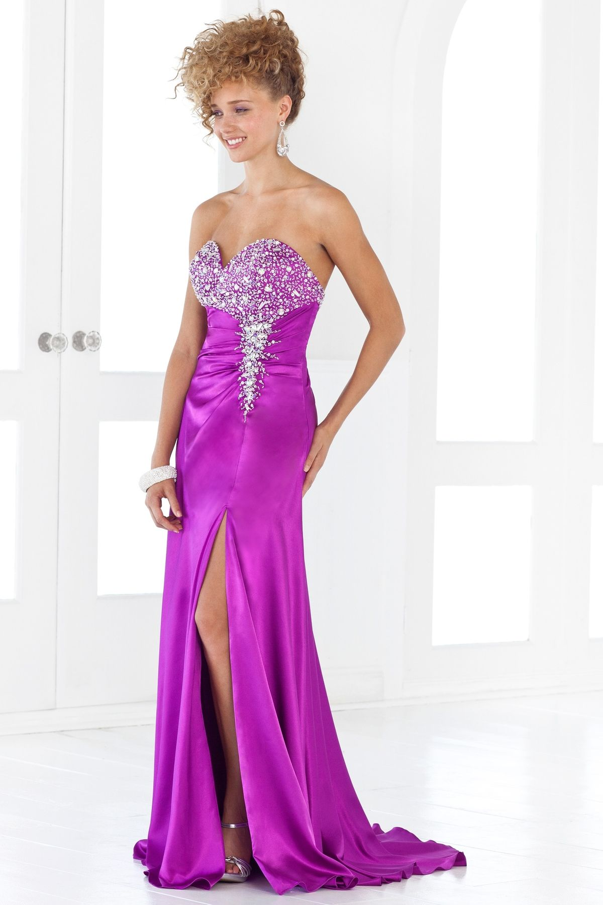 Column style prom dress