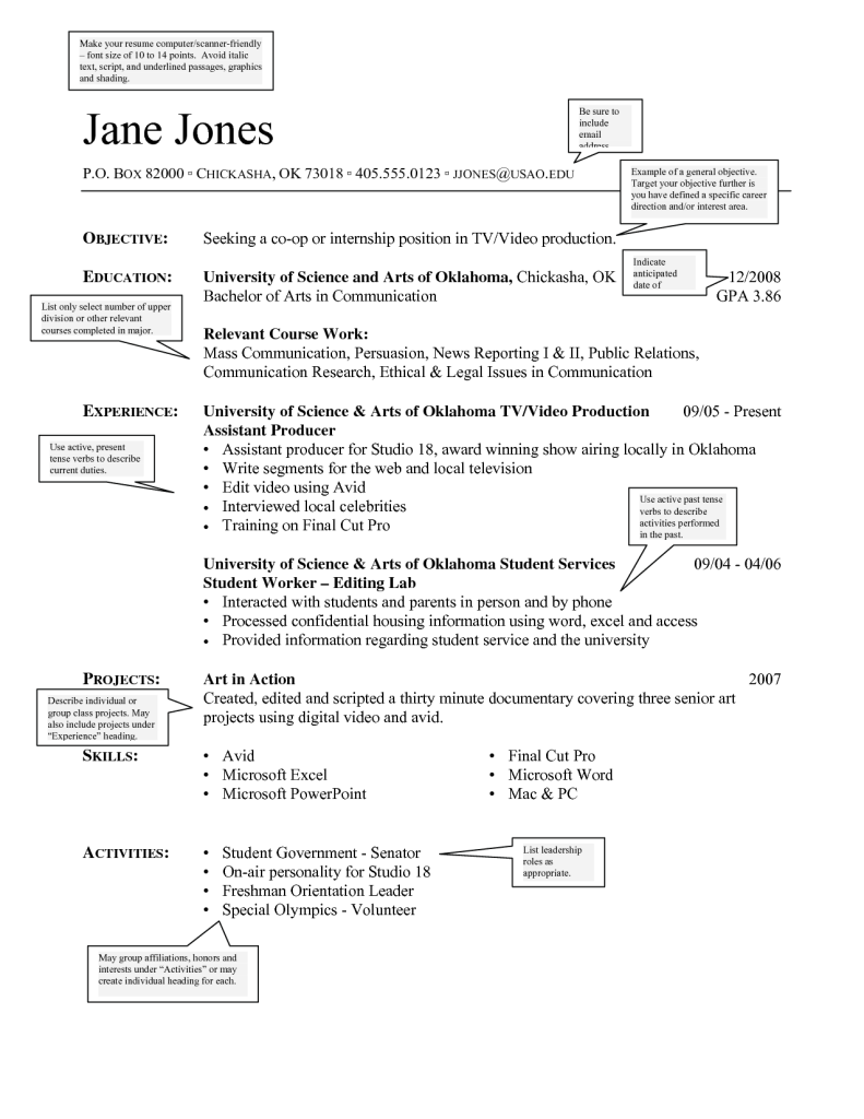 Best Resume Font Size - Professional Resume Templates •