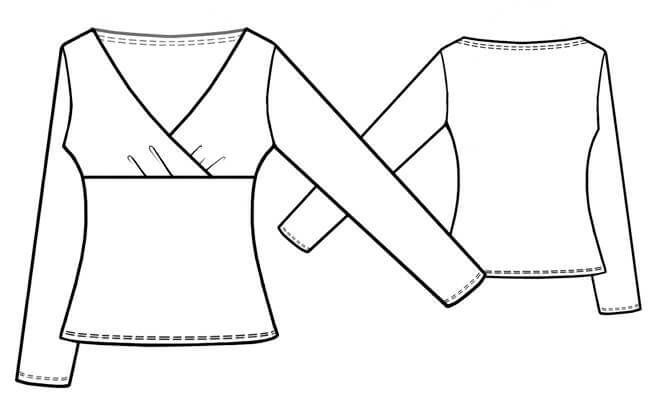 Wickelshirt für Damen | Pattern - Woman | Pinterest | Sewing ...