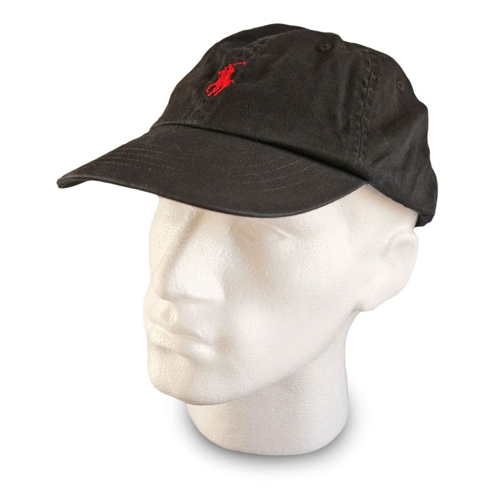 polo ralph baseball cap hat in black for