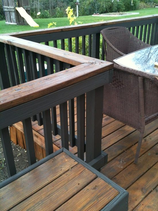 Two Tone Deck Staining Outdoor Decor Etc Staining Deck Deck