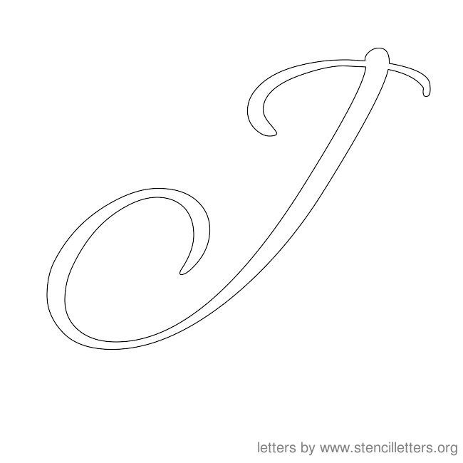 Worksheets Capital Letter J In Cursive 1000 images about alphabet stencils on pinterest letter j k and cursive alphabet