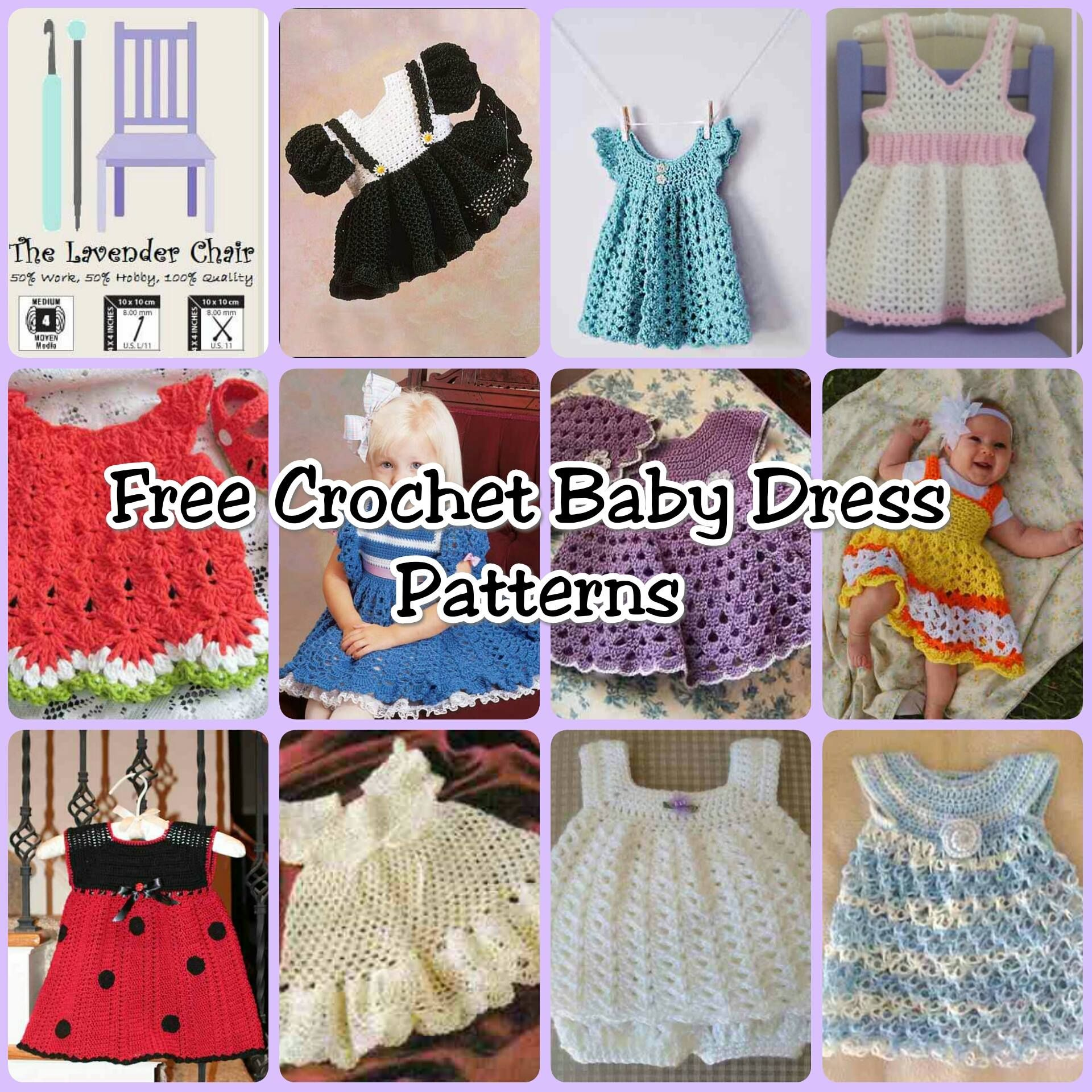 When i found out i was pregnant i was so excited to find out that 10 free crochet baby dress patterns the lavender chair bankloansurffo Image collections