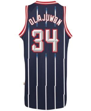dd1cfd78f adidas Men s Hakeem Olajuwon Houston Rockets Retired Player Swingman Jersey  - Blue XXL