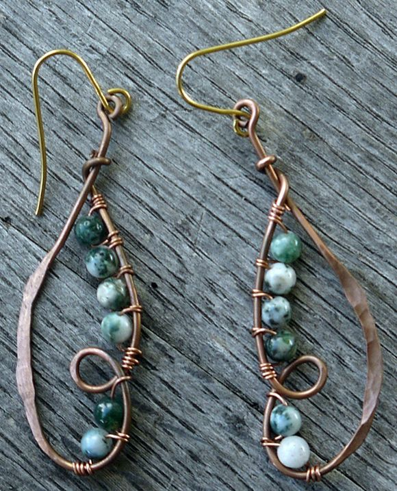 Wire Sculpted Earrings | accesorios | Pinterest | Magpie, Gemstone ...