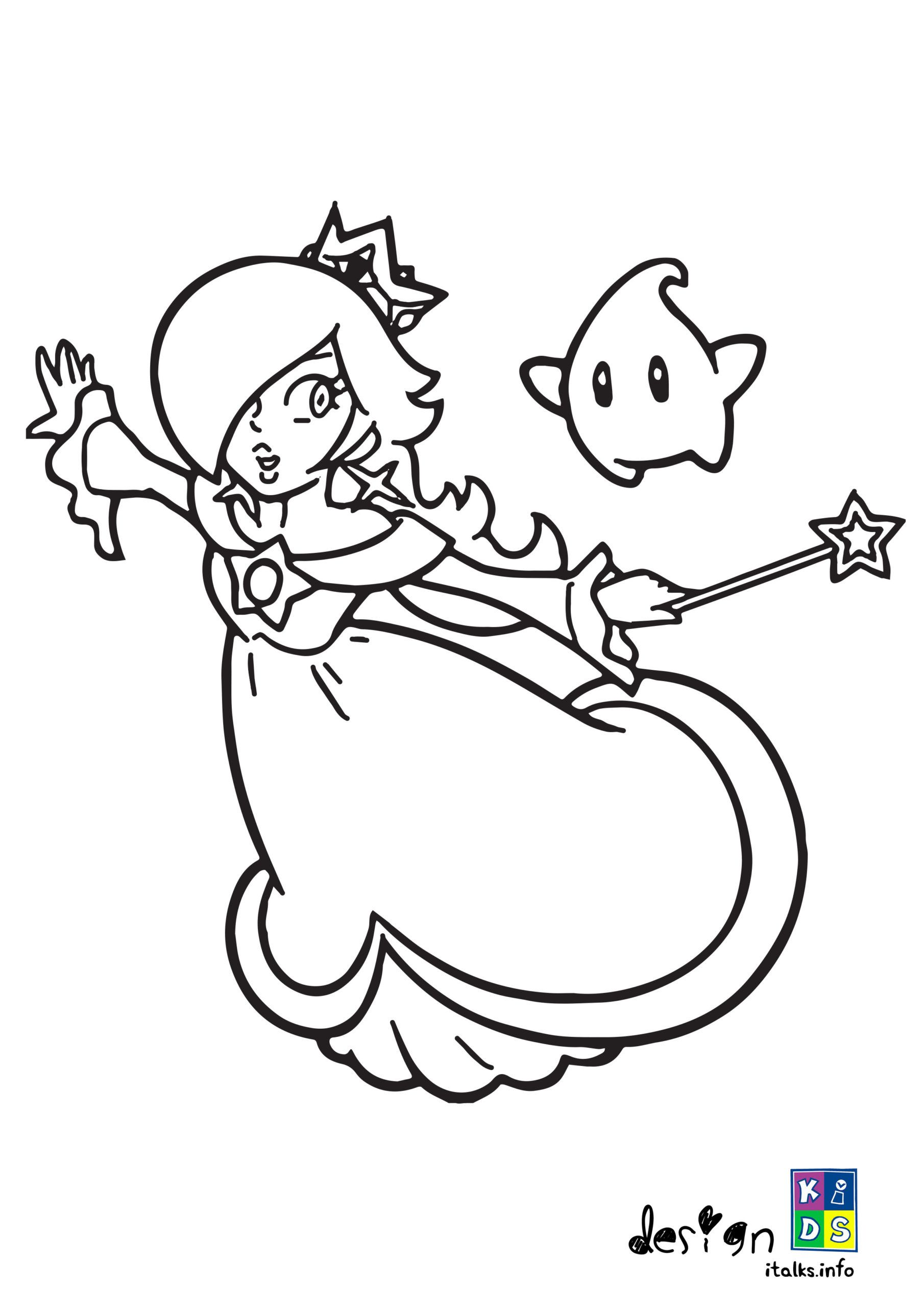 Princess Peach Coloring Page In 2020 Coloring Pages Coloring Books Color
