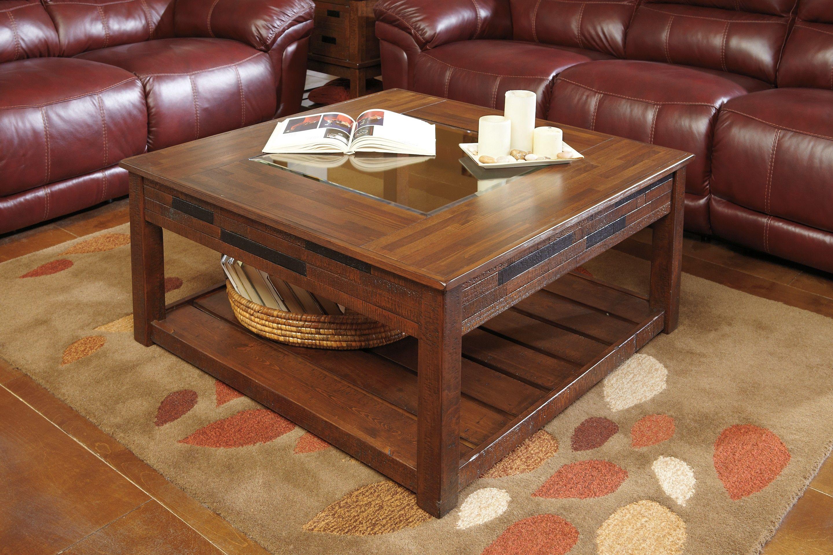 Ashley Bilvorn T742 8 Signature Design Square Cocktail Table Coffee Table Furniture Square Cocktail Table [ 1920 x 2879 Pixel ]
