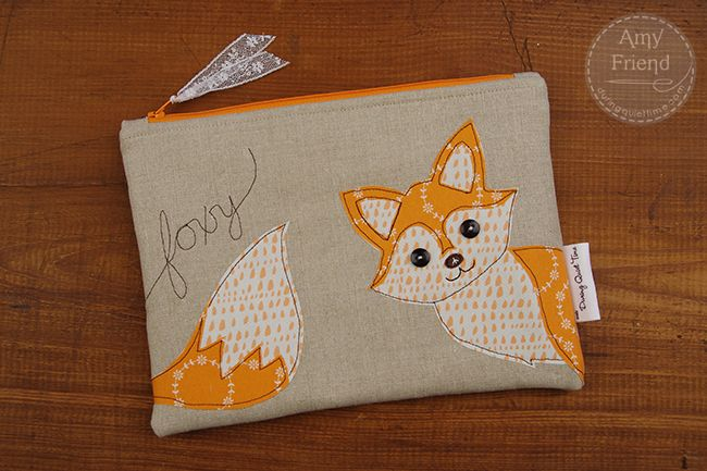 Foxy zip bag by Amy Friend