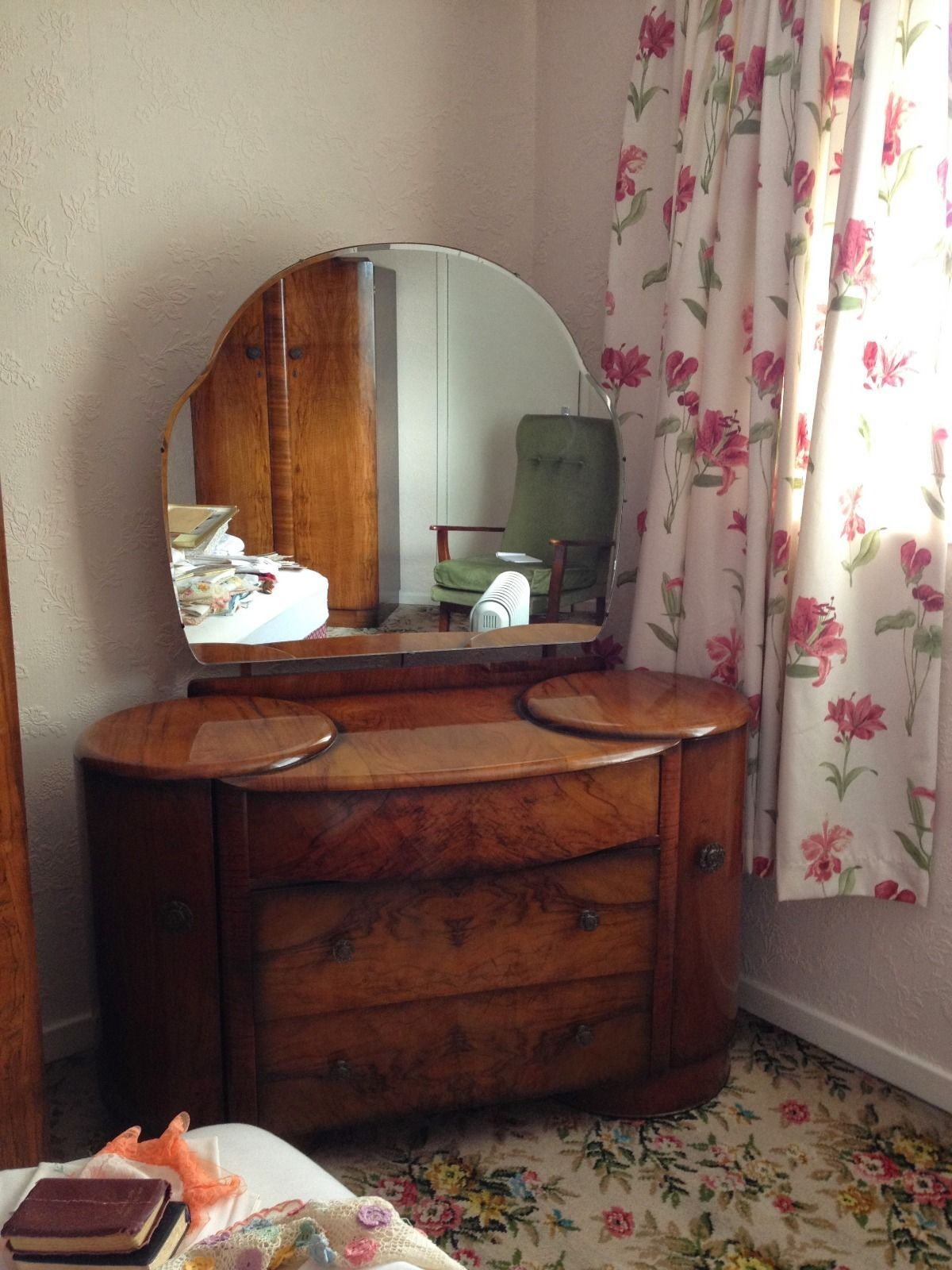 Stunning vintage Shrager Art-deco bedroom furniture, wardrobes + ...