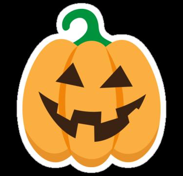 Halloween Jack o lantern sticker , cute, cartoon
