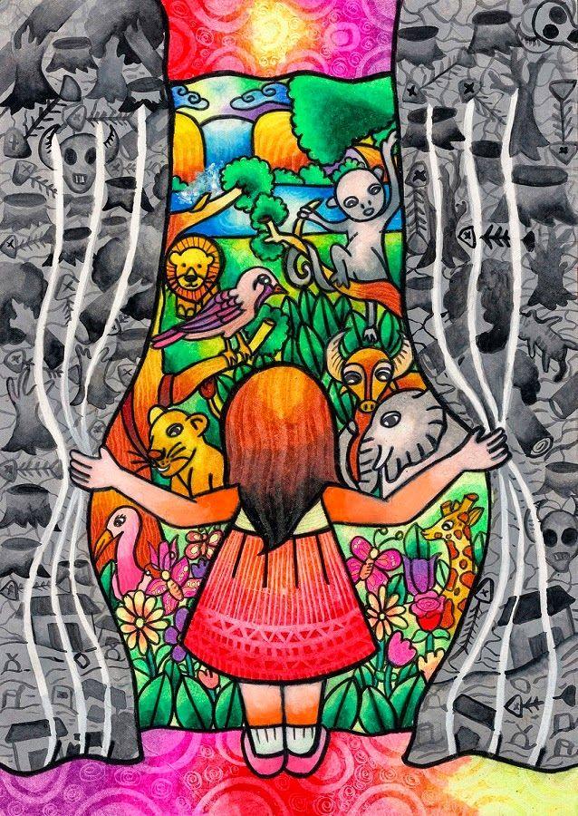La mejor obra de arte   Medio ambiente dibujo, Dibujos