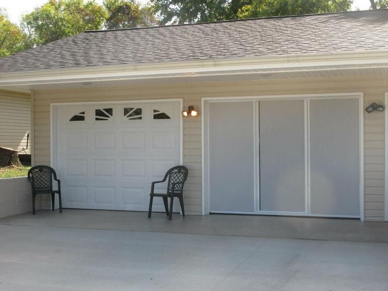 Here Are Several Options For Garage Screens Some Hang By Hook And