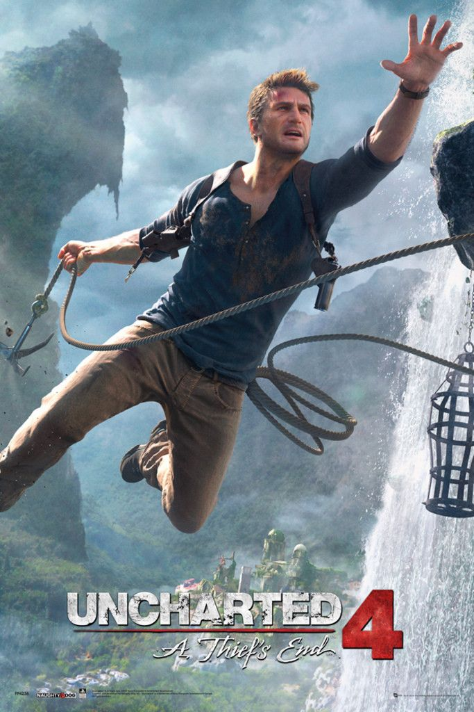 Uncharted 4 Jump Official Poster Videojuegos Wallpaper