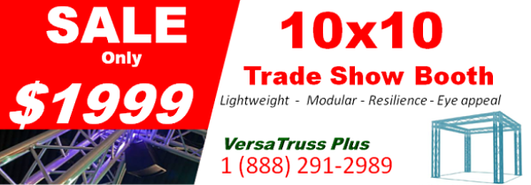 The VersaTruss Plus 10x10 Tradeshow booth is on SALE for only $1999 #tradeshowboothsale Contact Us Today http://www.versatrussplus.com  1(888)291-2989