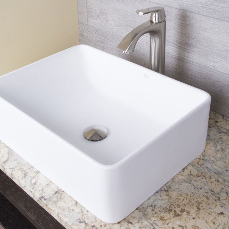 VIGO Amaryllis Matte Stone Vessel Bathroom Sink - Vessel Sink