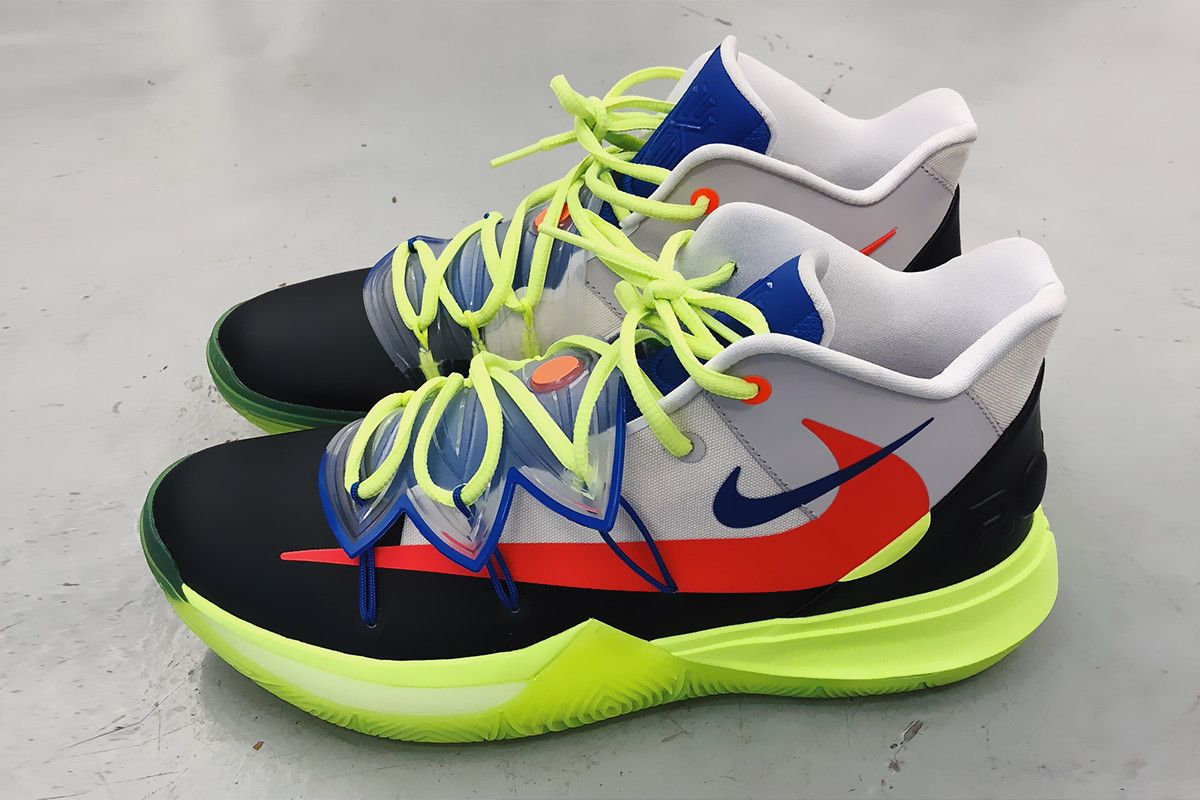 83098168 ROKIT Nike Kyrie 5 NBA All Star Weekend First Look blue grey volt red black  Irving 2019