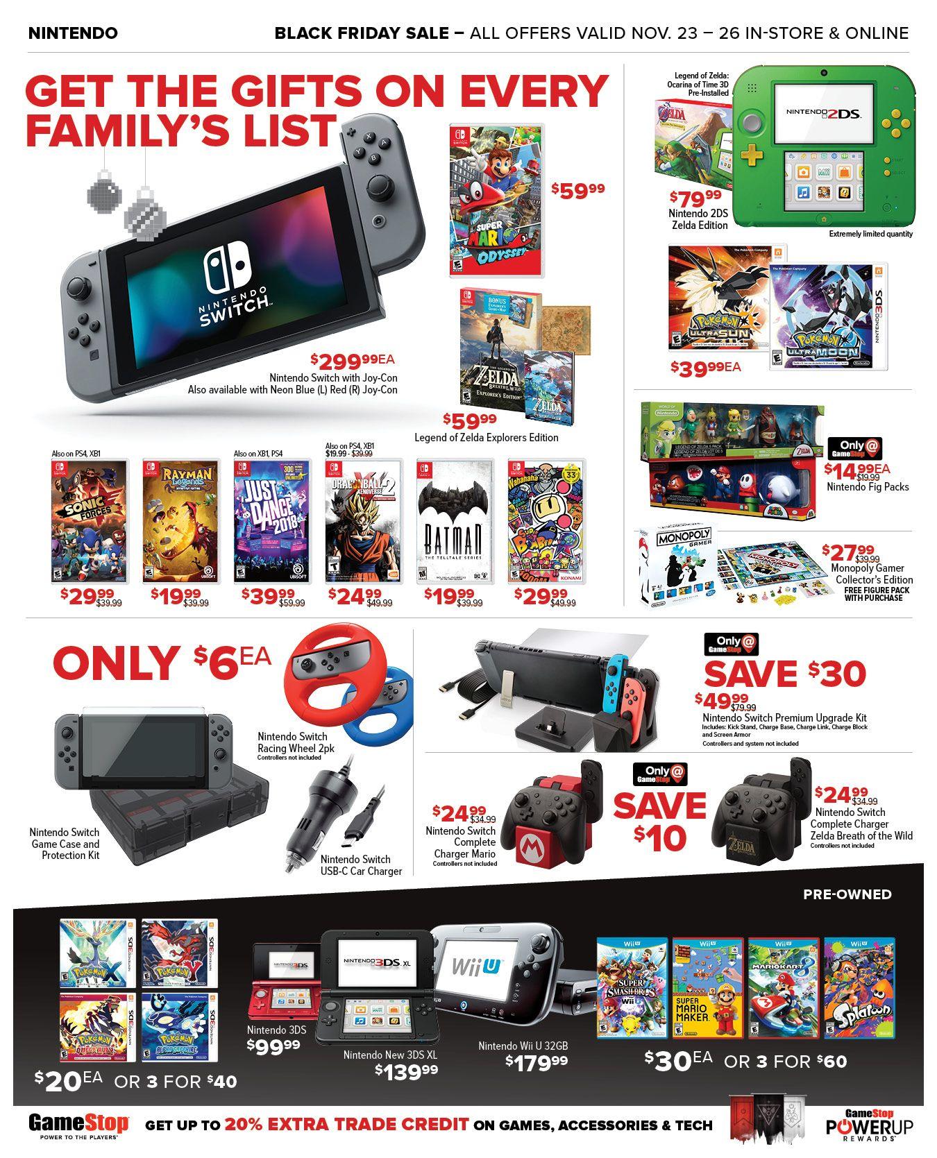 2017 Black Friday Deals Sales On Video Games Consoles More Gamestop Black Friday Games To Play Now Nintendo