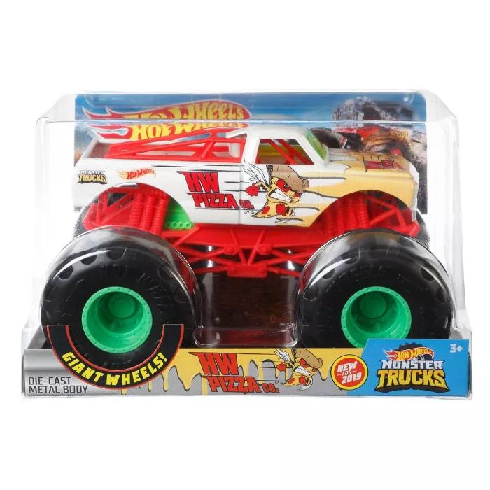 Hot Wheels Monster Trucks 1 24 Hw Pizza Co Vehicle Monster Trucks Hot Wheels Toy Car