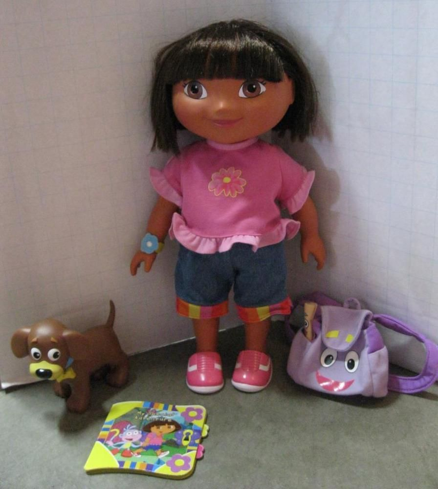 Dora Dress Up Adventure 15 inch Doll w Clothes Back Pack Dog Perrito-100% Origin