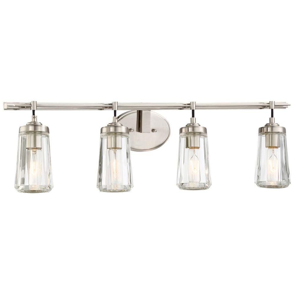 Minka Lavery Poleis Light Brushed Nickel Bath Light Bath Light - Minka bathroom light fixtures