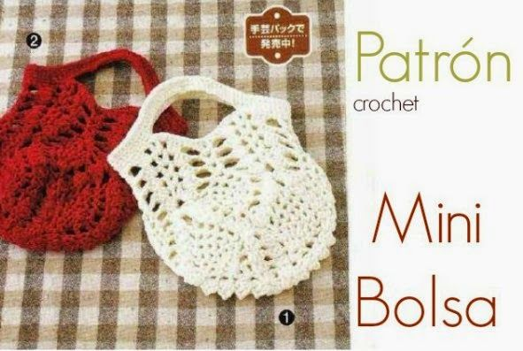mini+bolsas+en+crochet+patron1.jpg 591×397 píxeles | Patrones ...