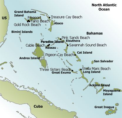 Bahamas Beaches Map Favorite Places Spaces Pinterest Bahamas