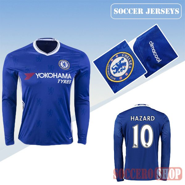 buy popular c6ee0 e3503 Latest Chelsea Blue 2016 2017 Home Long Sleeve Soccer Jersey ...