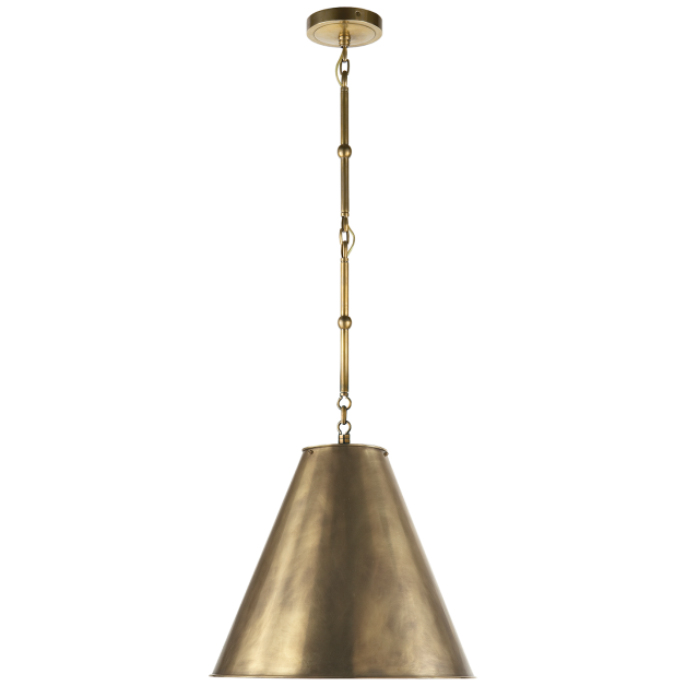 Circa goodman small hanging light different finish bronze with antique white shade