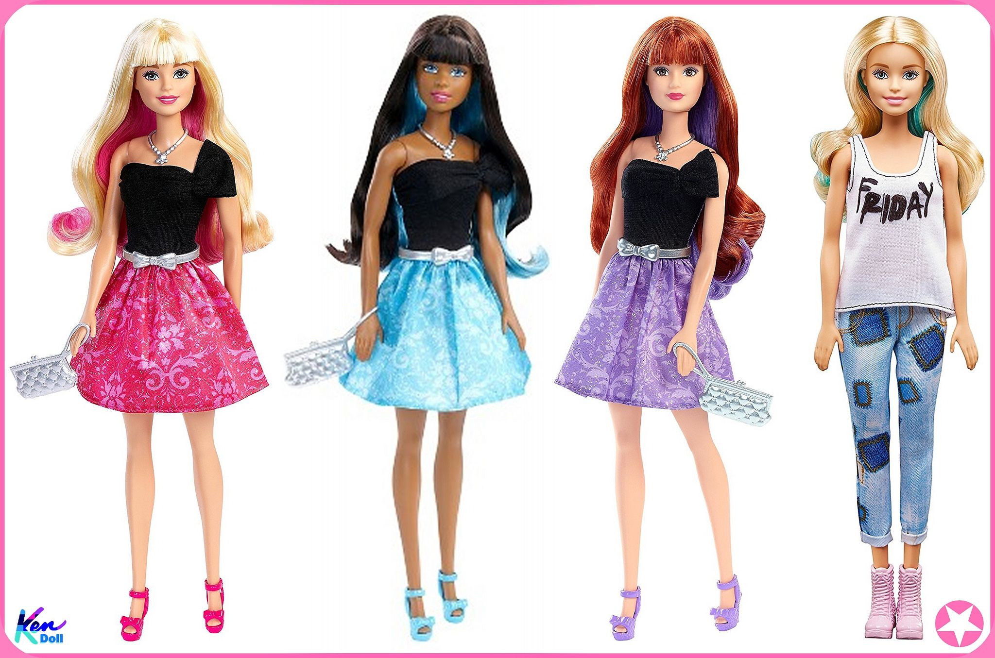 2016 Barbie Day To Night Style Twist To Change Hair Color Dolls
