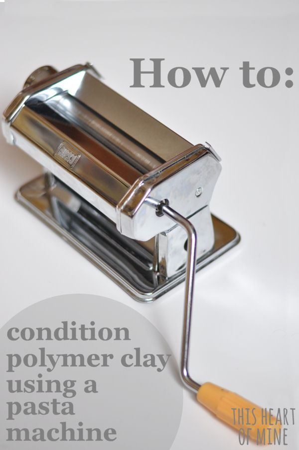How to Condition Polymer Clay with a pasta roller