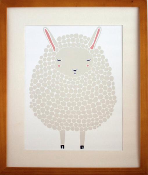 Gray Sheep Art Print Nursery
