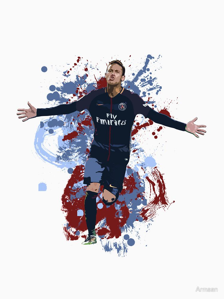 neymar psg art by armaan design available on t shirts and more neymar da silva santos j nior. Black Bedroom Furniture Sets. Home Design Ideas