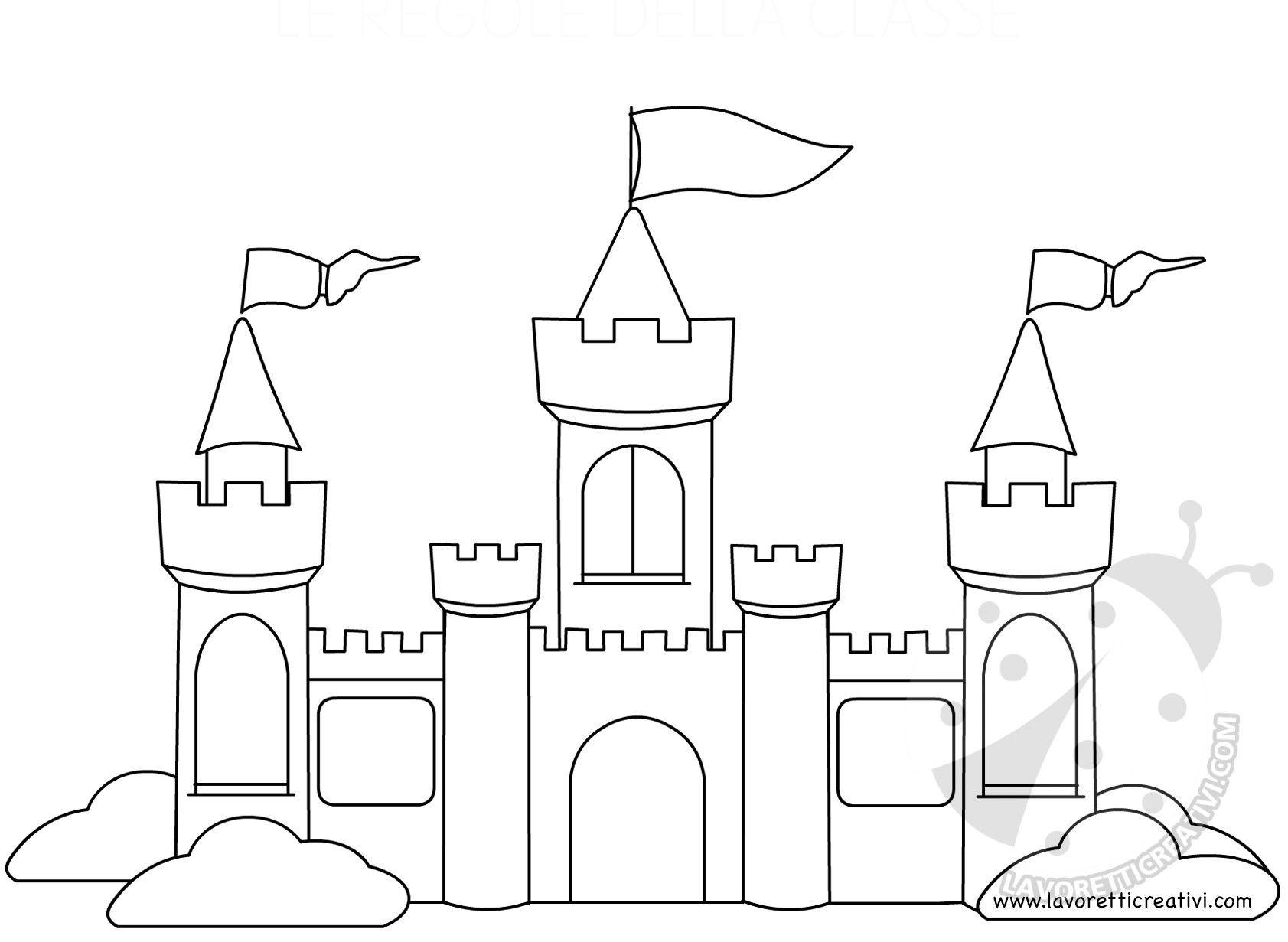 Immagini Castelli Da Colorare.Castello Da Colorare Disegni Da Colorare Disegni Da Colorare Estate Castello