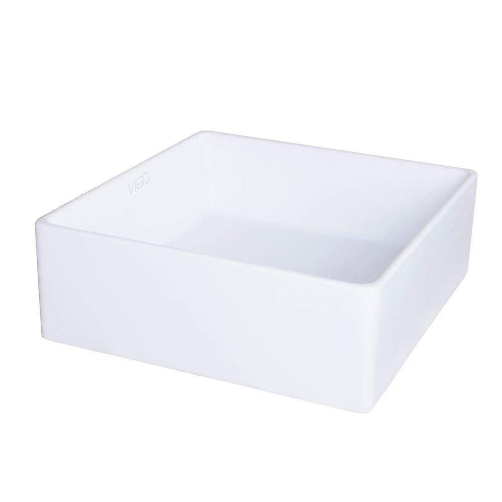 Matte White Bavaro Composite Vessel Sink