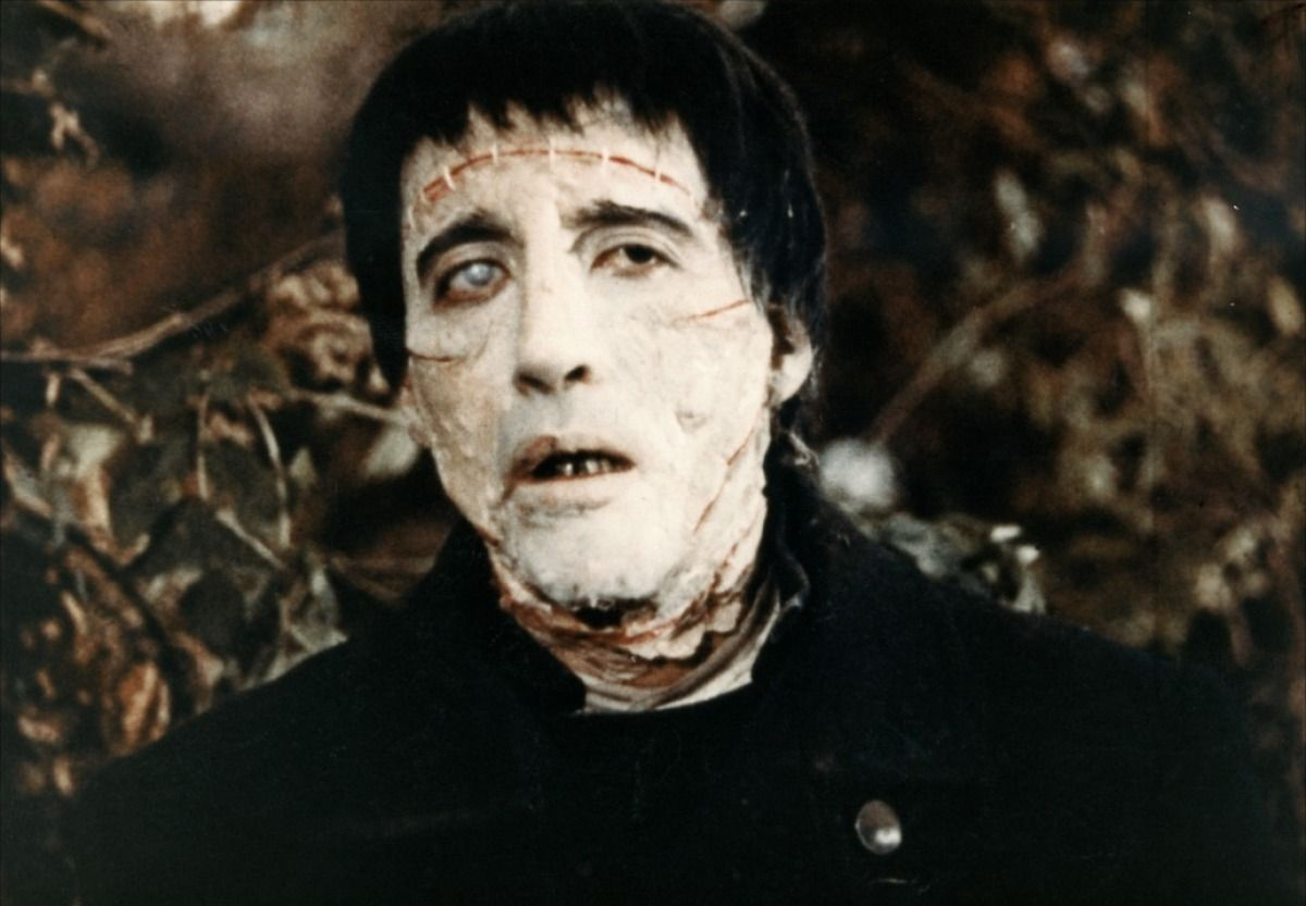Christopher Lee as the Frankenstein monster. Hammer Films first monster movie.