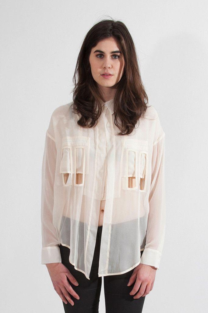 Shop Young & Able Emerging Designer: KARA LIU ASTRID CUT OUT SHIRT $345.00 http://www.shopyoungandable.com